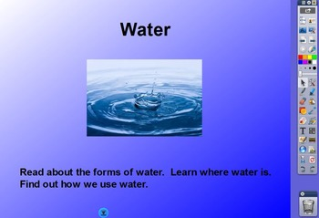 RIGOR Reading Invervention Level 1-Unit 5- Water flip chart