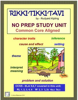 Rikki-Tikki-Tavi Common Core Aligned Study Unit