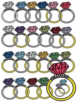 RING CLIP ART * NECKLACE CLIP ART * COLOR AND BLACK AND WHITE