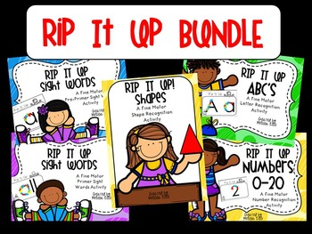 RIP it Up BUNDLE (DOLCH Words, Letter Recognition, Numbers