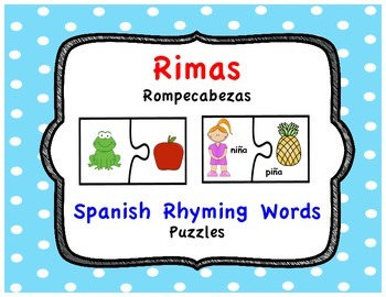 Rimas Rompecabezas - Spanish Rhyming Words