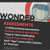 Wonder by R.J. Palacio: Assessments (Quizzes, Tests)