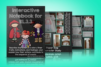 RL.3.3 Interactive Notebook for Character Feelings, Traits