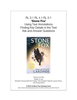 RL 3.1 RI 3.1 STONE FOX 10-Day Scripted *COMPLETE* UNIT Cl