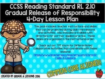 RL2.10 Comprehending Literature Gradual Release 4-Day Less