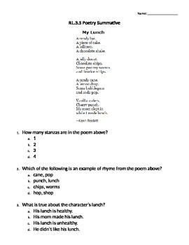 RL.3.5 Poetry Summative