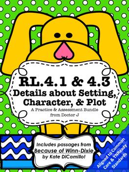 RL4.1 RL4.3 Settings, Characters, and Plot Bundle - Worksh