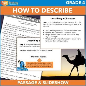 Describing a Character PowerPoint - Fourth Grade Construct