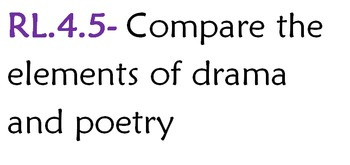 RL.4.5- Compare Drama & Poetry