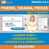RL.3.5 RL.4.5 Prose, Drama, and Poetry PowerPoint