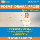 RL.3.5 RL.4.5 Prose, Drama, and Poetry Practice Pack