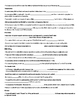 RNA and Protein Synthesis Student Notes