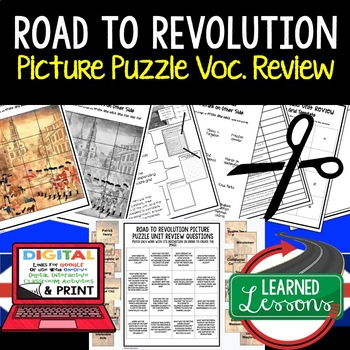 ROAD TO REVOLUTION Picture Puzzle Unit Review, Study Guide