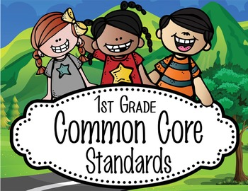 """ROAD TRIP - 1st Grade Common Core Standards """"I CAN"""" format"""