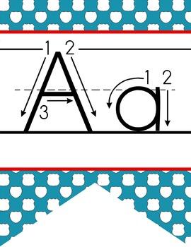 ROAD TRIP - Alphabet  Banner, handwriting, A to Z, ABC pri