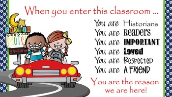 ROAD TRIP - Classroom Decor: SMALL BANNER, When You Enter