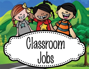 ROAD TRIP - Classroom Helpers JOBS clip chart
