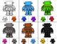 ROBOTS Color Match Clip It {A Beginning Work Task)