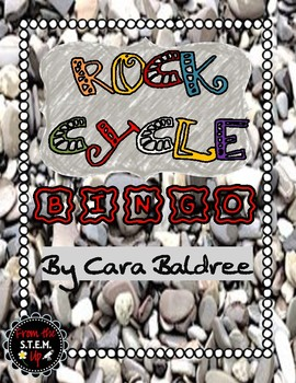 ROCK CYCLE BINGO - set of 30 cards with pictures