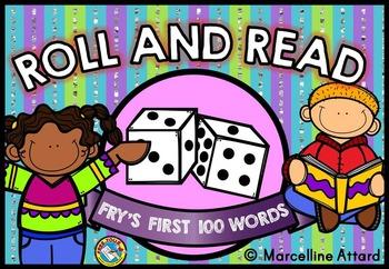 FRY WORDS PRACTICE: ROLL AND READ: KINDERGARTEN SIGHT WORD