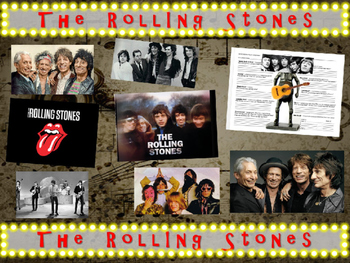 ROLLING STONES: 25 slides with text, hyperlinks, primary s
