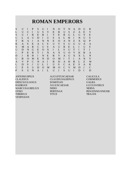 ROMAN EMPERORS WORD SEARCH