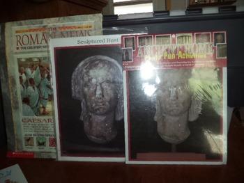 ROMAN NEWS  PHOTO  SCULPTURE BUST   (SET OF 3)