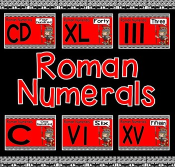 ROMAN NUMERALS POSTERS DISPLAY - MATHS NUMERACY NUMBERS