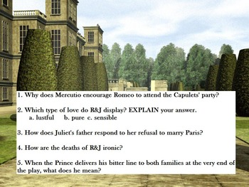 ROMEO AND JULIET SET TWO ANALYSIS QUESTIONS