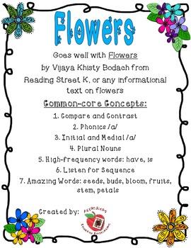 Flowers Reading Unit