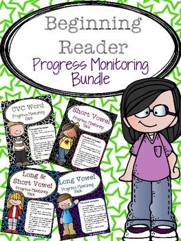 RTI: Beginning Reader Progress Monitoring Bundle
