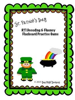 RTI Decoding & Fluency Practice Game:  St. Patrick's Day