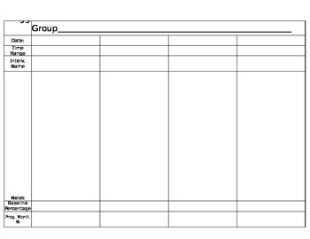 RTI Group Recording Sheet