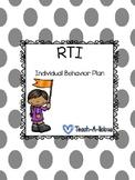 RTI Individual Behavior Plan