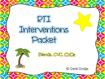 RTI Intervention Packet