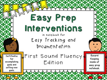 RTI Interventions for First Sounds, Beginning Sounds, Init