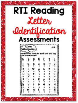 RTI Letter Identification Reading Progress Monitoring {9 A