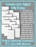 RTI Math CBM's: Common Core Aligned Assessments for the Pr