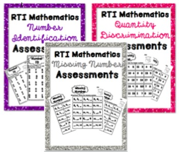 RTI Math Intervention Progress Monitoring BUNDLE {27 Assessments}