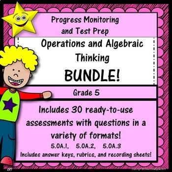 Math Operations and Algebraic Thinking Bundle, Grade 5