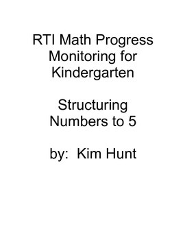 RTI Math Progress Monitoring for Kindergarten:  Structurin