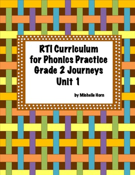 RTI Phonics for Journeys Grade 2 Unit 1