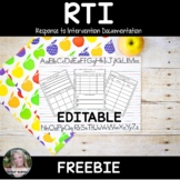 RTI- Progress Monitoring Recording Pages FREEBIE