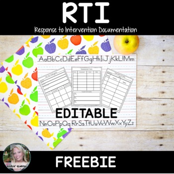 RTI- Progress Monitoring Recording Pages Editable FREEBIE