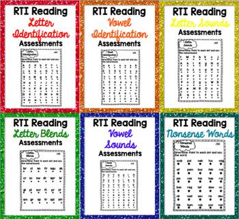 RTI Reading Intervention Progress Monitoring BUNDLE {45 As