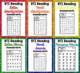 RTI Reading Intervention Progress Monitoring BUNDLE {90 As