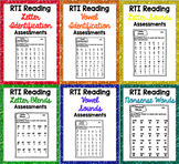 RTI Reading Intervention Progress Monitoring Bundle {90 As