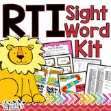 RTI Sight Word Intervention Kit