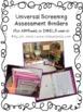 RTI Universal Screening Assessments Binder Set: AIMSweb, D