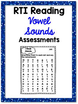RTI Vowel Sounds Reading Progress Monitoring {9 Assessments}